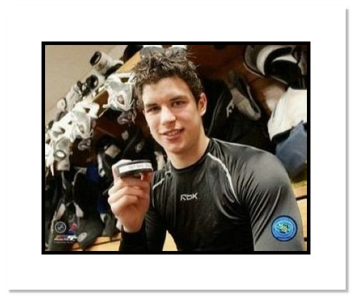 Sidney Crosby Pittsburgh Penguins NHL Double Matted 8x10 Photograph 1st NHL Goal