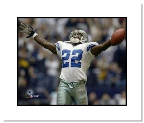Emmitt Smith Dallas Cowboys NFL Double Matted 8x10 Photograph All Time Rushing Record
