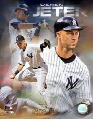 Derek Jeter New York Yankees MLB 8x10 Photograph Portrait Plus