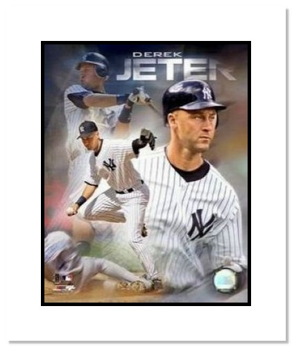 Derek Jeter New York Yankees MLB Double Matted 8x10 Photograph Portrait Plus