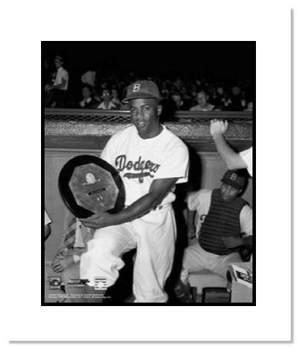 Jackie Robinson Brooklyn Dodgers MLB Double Matted 8x10 Photograph MVP Award