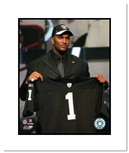 JaMarcus Russell Oakland Raiders NFL Double Matted 8x10 Photograph 2007 NFL Draft Day