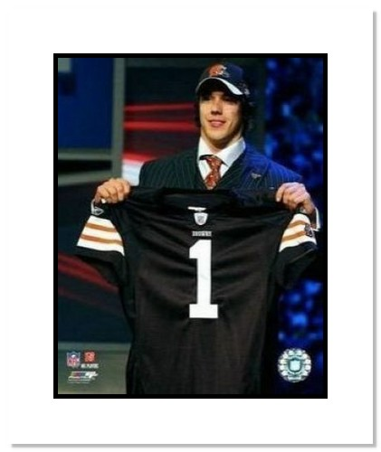 Brady Quinn Cleveland Browns NFL Double Matted 8x10 Photograph 2007 NFL Draft Day
