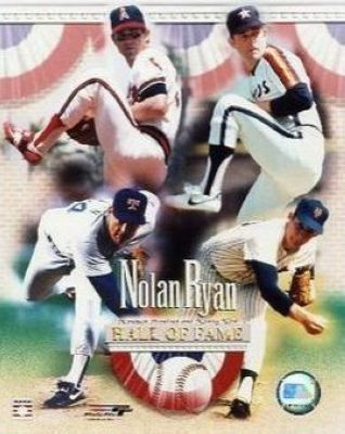 Nolan Ryan Texas Rangers MLB 8x10 Photograph Hall of Fame Tribute Mets, Astros, Rangers and Angels