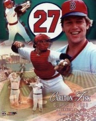 Carlton Fisk Boston Red Sox MLB 8x10 Photograph Jersey Retirement Day