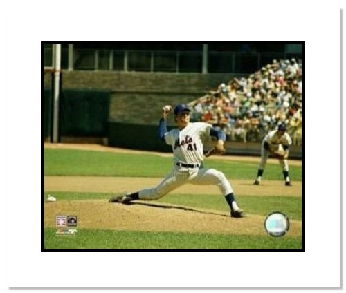 Tom Seaver New York Mets MLB Double Matted 8x10 Photograph Pitching