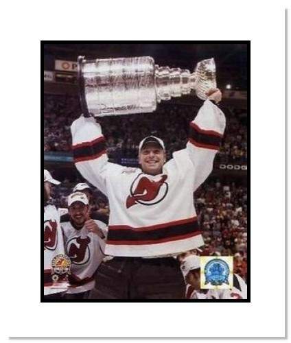 Martin Brodeur New Jersey Devils NHL Double Matted 8x10 Photograph 2003 Stanley Cup Overhead