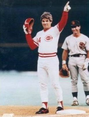 Pete Rose Cincinnati Reds MLB 8x10 Photograph Hit #4192 Pointing