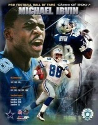 Michael Irvin Dallas Cowboys NFL 8x10 Photograph 2007 Hall of Fame Collage