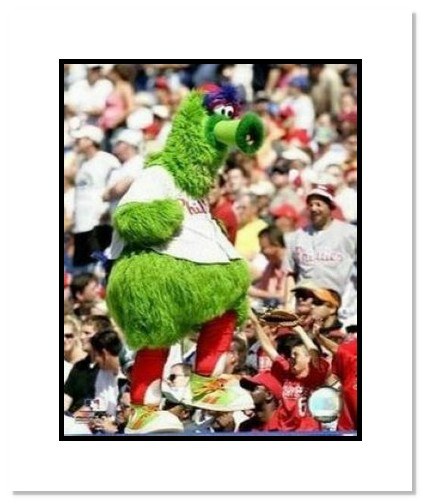 Philly Phanatic Philadelpha Phillies MLB Double Matted 8x10 Photograph Mascot