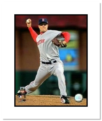 Jonathan Papelbon Boston Red Sox MLB Double Matted 8x10 Photograph 2007 All-Star Game Pitching