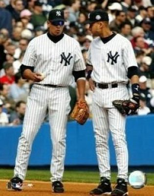 Alex Rodriguez and Derek Jeter New York Yankees MLB 8x10 Photograph Talking