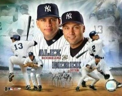 Alex Rodriguez and Derek Jeter New York Yankees MLB 8x10 Photograph Composite Collage