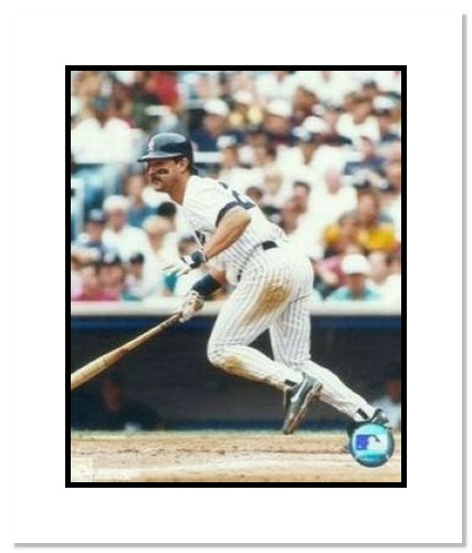 Don Mattingly New York Yankees MLB Double Matted 8x10 Photograph Swinging