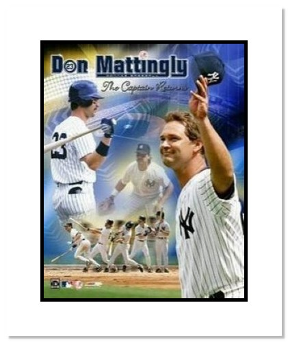 Don Mattingly New York Yankees MLB Double Matted 8x10 Photograph The Captain Returns
