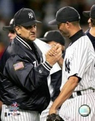 Joe Torre and Mariano Rivera New York Yankees MLB 8x10 Photograph Handshake