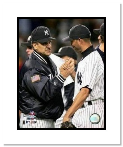 Joe Torre and Mariano Rivera New York Yankees MLB Double Matted 8x10 Photograph Handshake