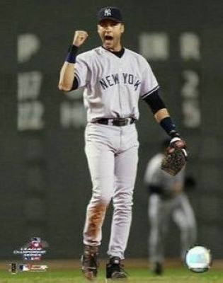 Derek Jeter New York Yankees MLB 8x10 Photograph Fist Pump in Boston