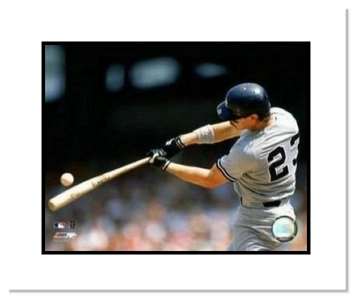 Don Mattingly New York Yankees MLB Double Matted 8x10 Photograph Batting