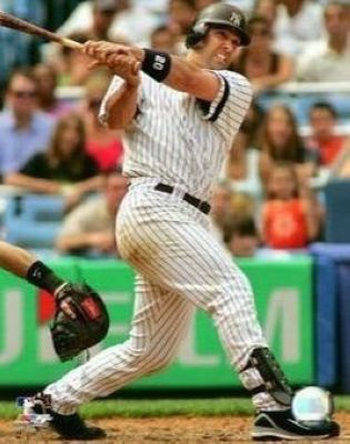 Jorge Posada New York Yankees MLB 8x10 Photograph Swinging