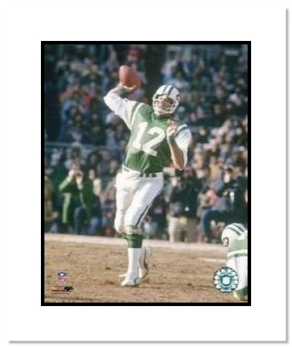 Joe Namath New York Jets NFL Double Matted 8x10 Photograph Passing