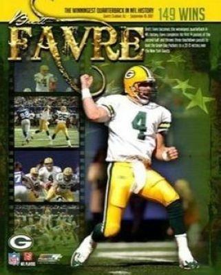 Brett Favre Green Bay Packers NFL 8x10 Photograph 149 Career Wins