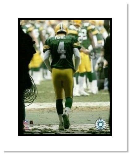 Brett Favre Green Bay Packers NFL Double Matted 8x10 Photograph Last Game of 2005 Season