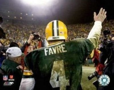 Brett Favre Green Bay Packers NFL 8x10 Photograph Last Game of 2006 Season