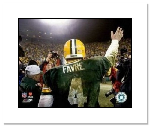 Brett Favre Green Bay Packers NFL Double Matted 8x10 Photograph Last Game of 2006 Season