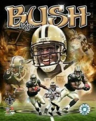 Reggie Bush New Orleans Saints NFL 8x10 Photograph Collage