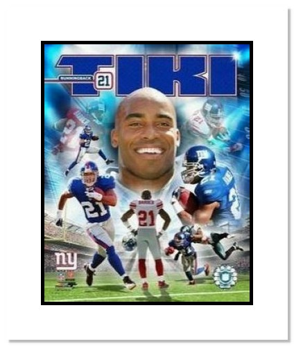 Tiki Barber New York Giants NFL Double Matted 8x10 Photograph Collage