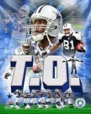 Terrell Owens Dallas Cowboys NFL 8x10 Photograph Collage