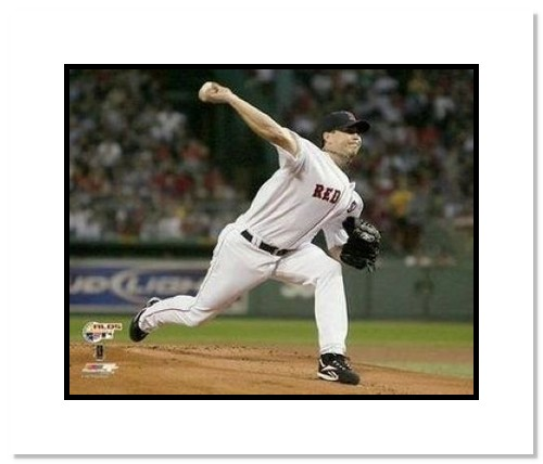 Josh Beckett Boston Red Sox MLB Double Matted 8x10 Photograph 2007 ALCS Pitching
