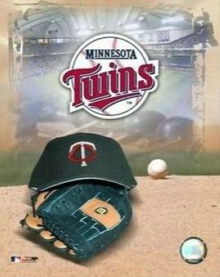 Minnesota Twins MLB 8x10 Photograph Team Logo and Baseball Cap Collage
