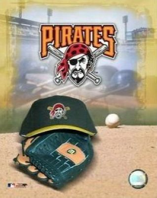 Pittsburgh Pirates MLB 8x10 Photograph Team Logo and Baseball Cap Collage