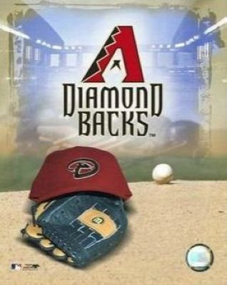 Arizona Diamondbacks MLB 8x10 Photograph Team Logo and Baseball Cap Collage