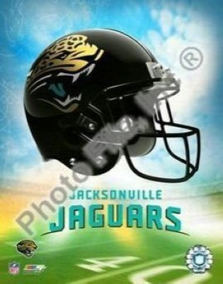 Jacksonville Jaguars NFL 8x10 Photograph Team Logo and Football Helmet Collage