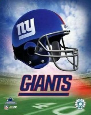 New York Giants NFL 8x10 Photograph Team Logo and Football Helmet Collage