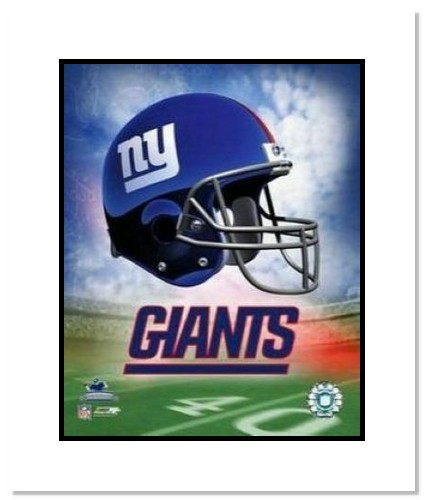 New York Giants NFL Double Matted 8x10 Photograph Team Logo and Football Helmet Collage