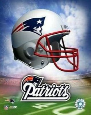 New England Patriots NFL 8x10 Photograph Team Logo and Football Helmet Collage