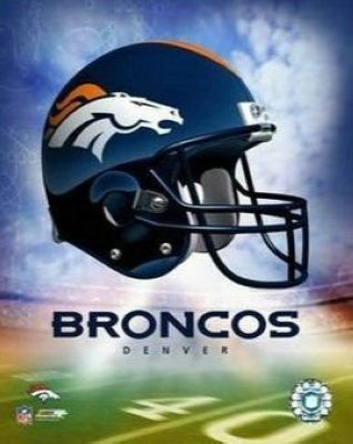 Denver Broncos NFL 8x10 Photograph Team Logo and Football Helmet Collage