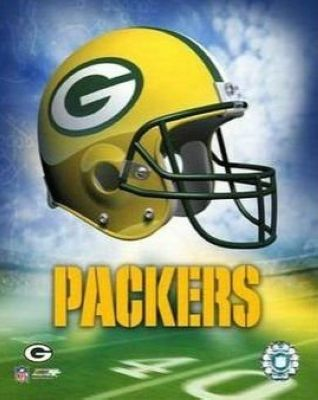 Green Bay Packers NFL 8x10 Photograph Team Logo and Football Helmet Collage