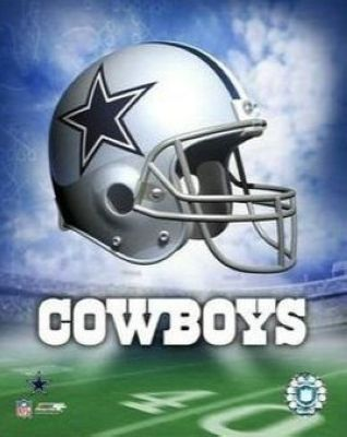 Dallas Cowboys NFL 8x10 Photograph Team Logo and Football Helmet Collage