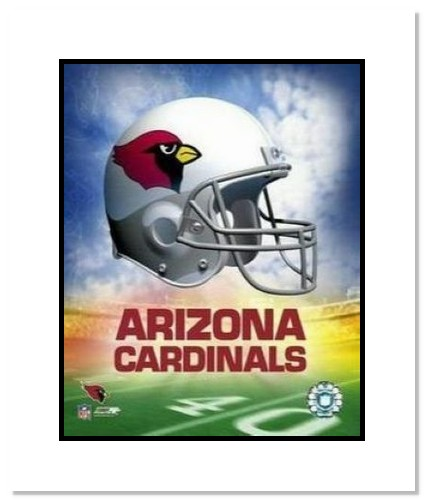 Arizona Cardinals NFL Double Matted 8x10 Photograph Team Logo and Football Helmet Collage