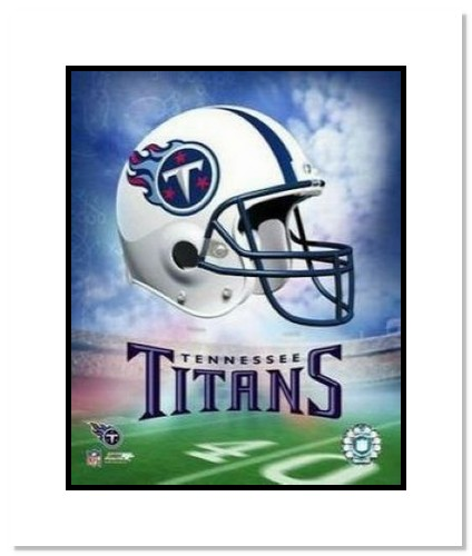 Tennessee Titans NFL Double Matted 8x10 Photograph Team Logo and Football Helmet Collage