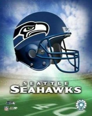 Seattle Seahawks NFL 8x10 Photograph Team Logo and Football Helmet Collage