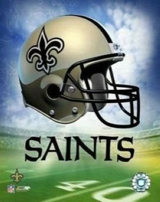 New Orleans Saints NFL 8x10 Photograph Team Logo and Football Helmet Collage
