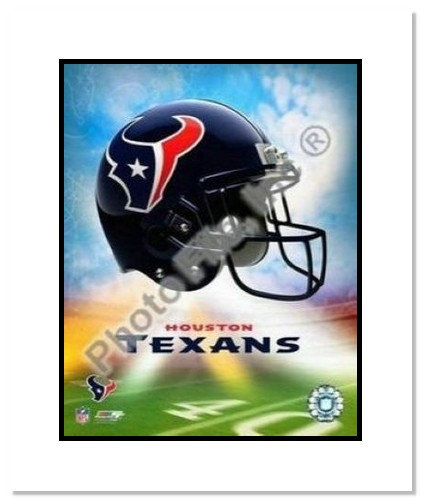 Houston Texans NFL Double Matted 8x10 Photograph Team Logo and Football Helmet Collage