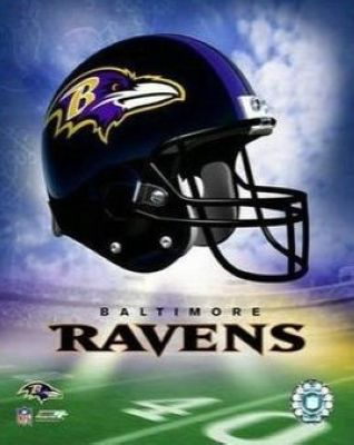 Baltimore Ravens NFL 8x10 Photograph Team Logo and Football Helmet Collage
