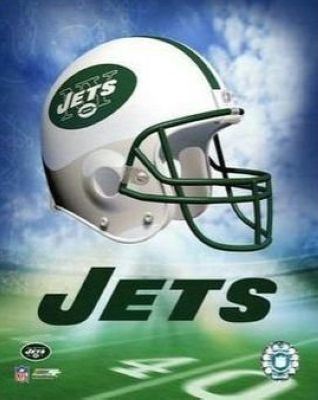 New York Jets NFL 8x10 Photograph Team Logo and Football Helmet Collage